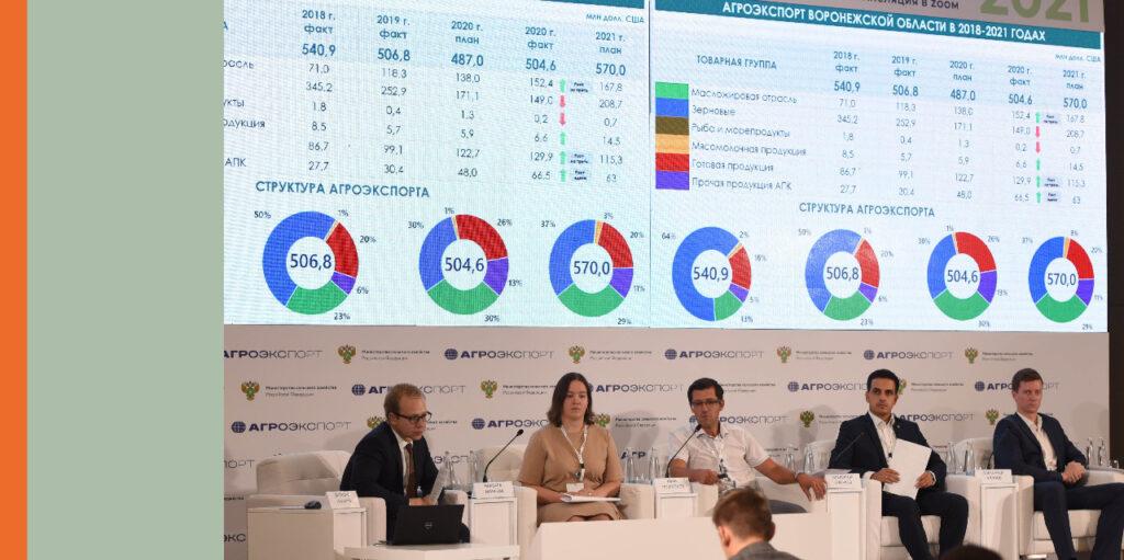 На площадке «Агроэкспорта» представили лучшие региональные практики поддержки экспорта